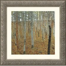 <strong>Great American Picture</strong> Birch Forest Silver Framed Print - Gustav Klimt