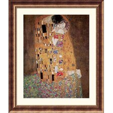 <strong>Great American Picture</strong> The Kiss (Le Baiser / Il Baccio), 1908 Bronze Framed Print - Gustav Klimt