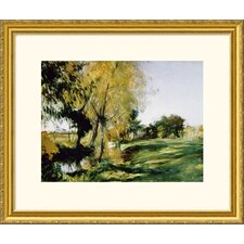 <strong>Great American Picture</strong> At Broadway Gold Framed Print - John Singer Sargent
