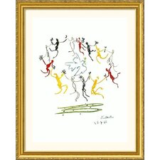Dance of Youth Gold Framed Print - Pablo Picasso