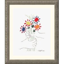 Museum Reproductions 'Hand with Bouquet' by Pablo Picasso Framed Painting Print