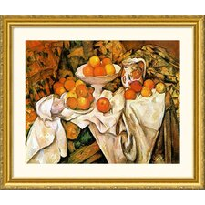 Pommes et Oranges (Apples and Oranges) Gold Framed Print - Paul Cezanne