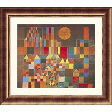 Castle and Sun Bronze Framed Print - Paul Klee