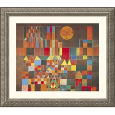 Castle and Sun Silver Framed Print - Paul Klee