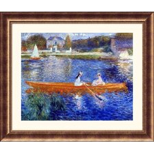 <strong>Great American Picture</strong> The Seine at Asnieres Bronze Framed Print - Pierre Auguste Renoir