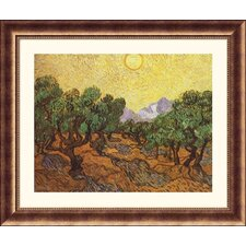 Museum Reproductions The Olive Trees by Vincent Van Gogh Framed Painting Print