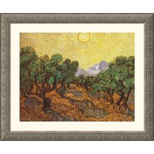 <strong>Great American Picture</strong> The Olive Trees Silver Framed Print - Vincent van Gogh