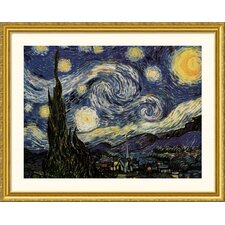 <strong>Great American Picture</strong> The Starry Night Gold Framed Print - Vincent van Gogh