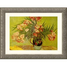 Museum Reproductions Vases de Fleurs (Vases of Flowers) by Vincent Van Gogh Framed Painting Print