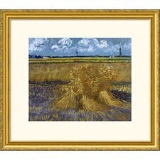 Museum Reproductions 'Wheat Field with Sheaves' by Vincent Van Gogh Framed Painting Print