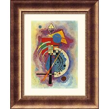 Museum Reproductions Homage to Grohmann by Wassily Kandinsky Framed Painting Print