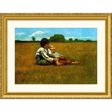 Boys in a Pasture, 1874 Gold Framed Print - Winslow Homer