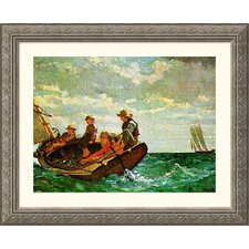 Museum Reproductions 'Breezing Up' by Winslow Homer Framed Painting Print