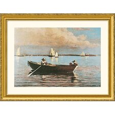 Gloucester Harbor Gold Framed Print - Winslow Homer