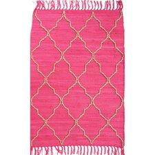 Trellis Pink Area Rug