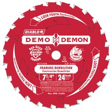 "7-1/4"" 24T Diablo® Demo Demon Framing & Demolition Saw Blade D0724DA"