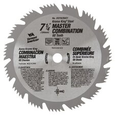 "7-1/4"" 64T Krome King® Master Combination Circular Saw Blade 25"