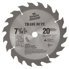 "7-1/4"" 20 TPI Fast-Cut Rip Carbide Circular Saw Blades 27170"