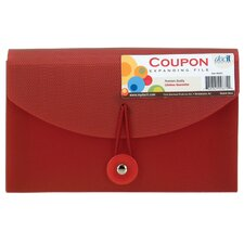 "4.5"" X 6.8"" Doc It Coupon File Assorted Colors"