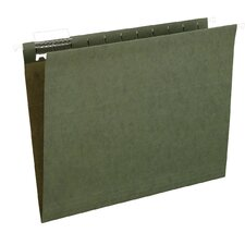 25 Count File Pro Standard Hanging File Folder in Green