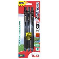 0.7 mm Needle Point Gel Pen in Black (Set of 3)