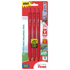 0.7 mm Needle Point Gel Pen in Red (Set of 6)