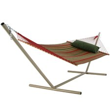 <strong>Pawleys Island</strong> Large Quilted Fabric Hammock with Stand