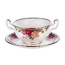 "Old Country Roses 6.25"" Cream Soup Saucer"