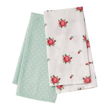 New Country Roses Tea Towel (Set of 2)
