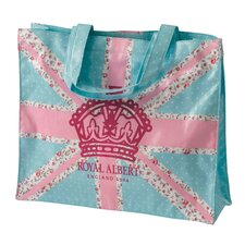 New Country Roses Old Pastel Union Jack Plasticised Shopping Tote
