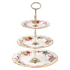 <strong>Royal Albert</strong> Old Country Roses Christmas Tree 3-Tier Cake Stand