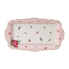 "New Country Roses Formal Vintage 7"" Rectangular Sandwich Tray"
