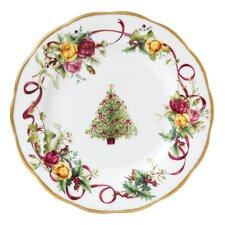 "<strong>Royal Albert</strong> Old Country Roses Christmas Tree 8.2"" Salad Plate"