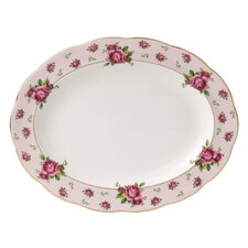 "New Country Roses Formal Vintage 10.5"" Oval Platter"