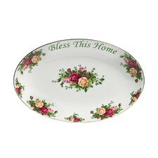 "<strong>Royal Albert</strong> Old Country Roses Bless This Home 8.9"" Oval Platter"