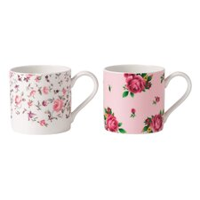 Rose Confetti New Country Rose Mugs (Set of 2)