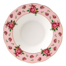 "New Country Roses Formal Vintage 11"" Rim Soup and Salad Bowl"