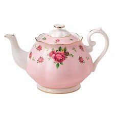 New Country Roses 1.32-qt. Formal Vintage Teapot