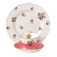 New Country Roses Cheeky Pink Vintage Teacup Set (Set of 3)