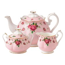New Country Roses 3 Piece Tea Set