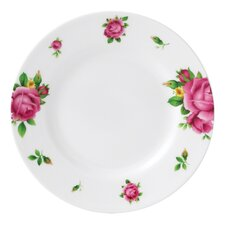 "New Country Roses White Casual 6.1"" Bread and Butter Plate"
