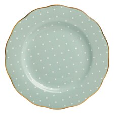 "Polka Rose Formal Vintage 8.1"" Salad Plate"