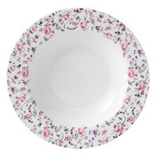 Rose Confetti Casual Rim Soup and Salad Bowl