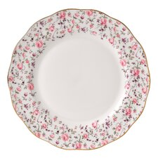 "Rose Confetti Formal Vintage 10.5"" Dinner Plate"