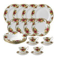 Old Country Roses 20 Piece Dinnerware Set