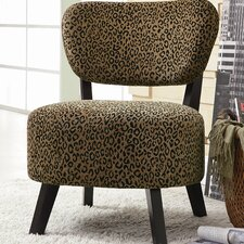 <strong>Wildon Home ®</strong> Shady Shores Leopard Print Fabric Slipper Chair