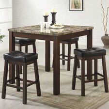 Mirage 5 Piece Counter Height Dining Set