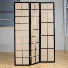 "70.25"" x 52"" Harbor Folding 3 Panel Room Divider"