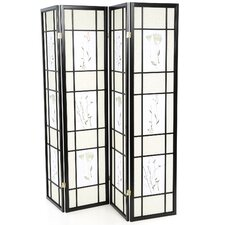 "70.25"" x 69"" Pateros Floral Printed Folding 4 Panel Room Divider"
