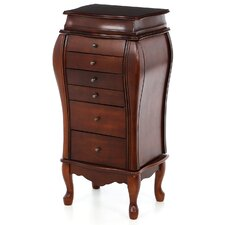 <strong>Wildon Home ®</strong> Cherry Warden Jewelry Armoire with Mirror